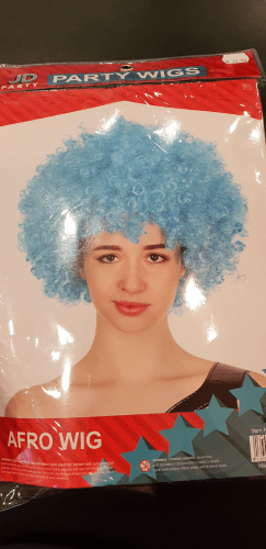 Footy Plus More GAME DAY New South Wales NSW Blues State of origin Afro Wig