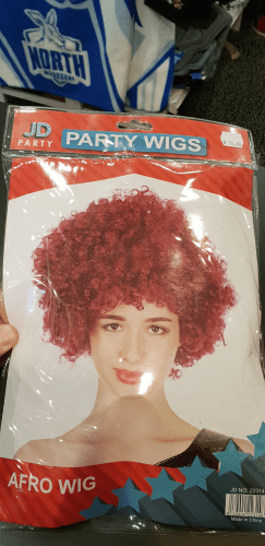 Footy Plus More GAME DAY Queensland Maroons State of origin Afro Wig