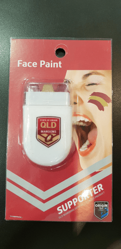 Footy Plus More GAME DAY Queensland Maroons State of origin facepaint stick