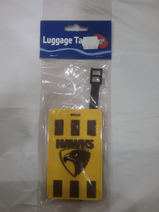 Footy Plus More general Hawthorn Hawks Luggage Tag