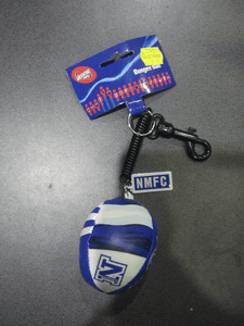 Footy Plus More general North Melbourne Kangaroos Bungee Ball Keyring Clip Name Tag
