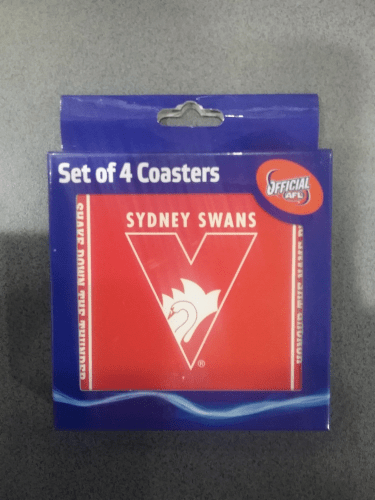 Footy Plus More general Sydney Swans Set of 4 Coasters