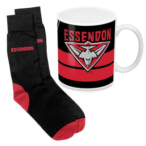 Footy Plus More Gift Pack Essendon Bombers Mug and Sock Gift Pack