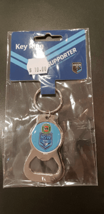 Footy Plus More Gift Pack New South Wales NSW Blues State of origin Key Ring Bottel Opener