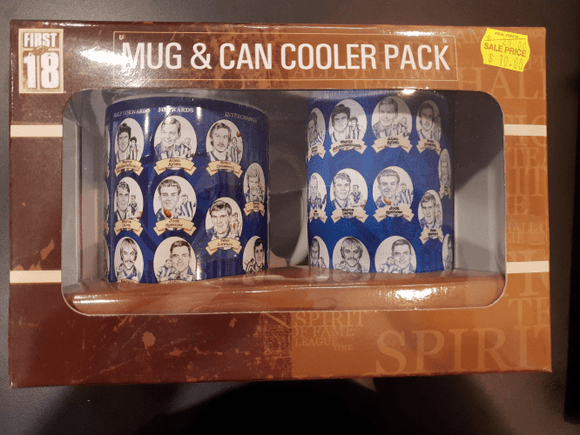 Footy Plus More Gift Pack North Melbourne Kangaroos Team Of The Century 330ml Mug and Can Cooler gift Pack