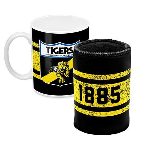 Footy Plus More Gift Pack Richmond Tigers Mug And Can cooler Retro Logo