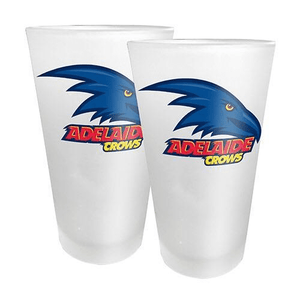 Footy Plus More Glassware Adelaide Crows Set of 2Conical Glasses