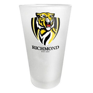 Footy Plus More Glassware Gift Pack Richmond Tigers FrostedGlass