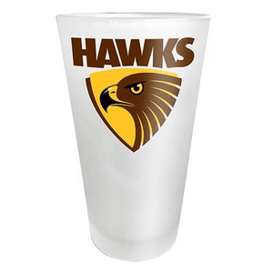 Footy Plus More Glassware Hawthorn Hawks Frosted Glass