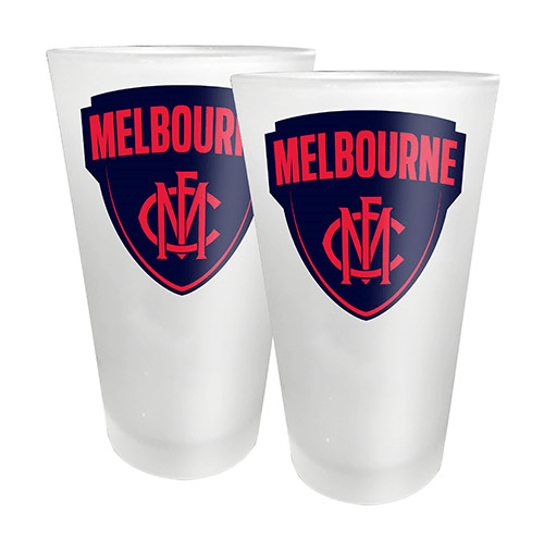 Footy Plus More Glassware Melbourne Demons Set of 2 Conical Glasses