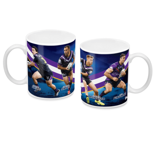 Footy Plus More Glassware Melbourne Storm 4 Player Mug with Smith, Smith, Munster and Finucane