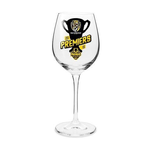 Footy Plus More Glassware Richmond Tigers Premiers 2019 Wine Glass