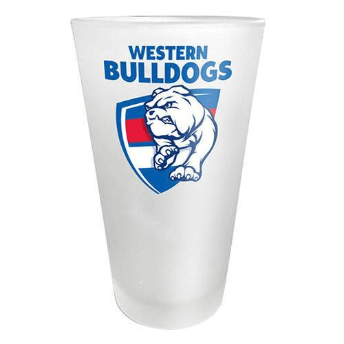 Footy Plus More Glassware Western Bulldogs Frosted Glass