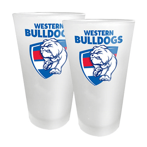 Footy Plus More Glassware Western Bulldogs Set of 2 Conical Glasses