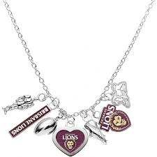 Footy Plus More Jewelry Brisbane Lions Charm Necklace