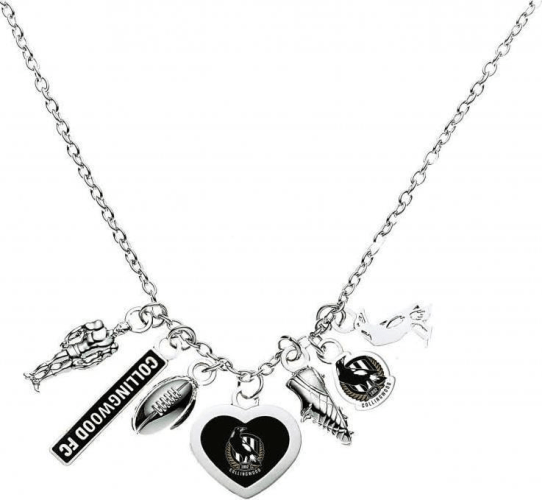 Footy Plus More Jewelry Collingwood Magpies Charm Necklace