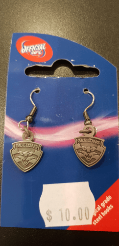 Footy Plus More Jewelry earrings Geelong Cats Non coloured earrings