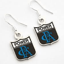 Footy Plus More Jewelry earrings Port Adelaide Power Coloured Retro Earrings
