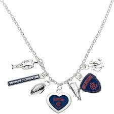 Footy Plus More Jewelry Melbourne Demons Charm Necklace