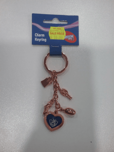 Footy Plus More Jewelry North Melbourne Kangaroos Charm Keyring Retro Logo