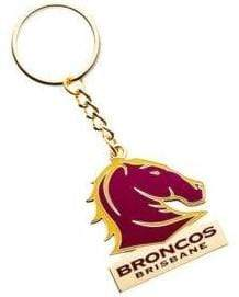 Footy Plus More Keyring Brisbane Broncos Logo Keyring