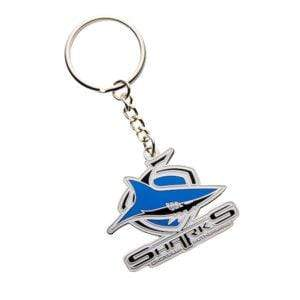 Footy Plus More Keyring Cronulla Sharks Logo Keyring