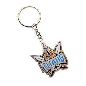 Footy Plus More Keyring Gold Coast Titans Logo Keyring