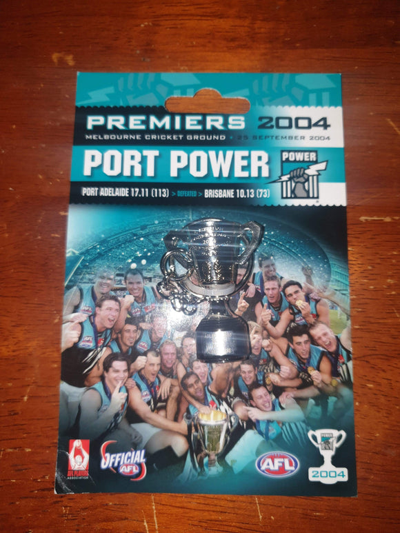 Footy Plus More Keyring Port Adelaide Power 2004 Premiers Cup Keyring