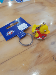 Footy Plus More Keyring Sydney Swans Rubber Ducky Key Ring