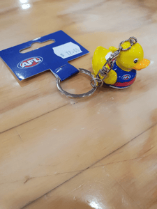 Footy Plus More Keyring Western Bulldogs Rubber Duck Key Ring