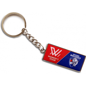 Footy Plus More Keyring Western Bulldogs Womens Team Keyring