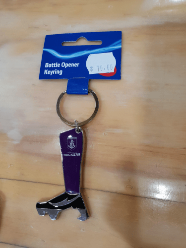 Footy Plus More Keyrings Fremantle Dockers Bottle Opener Keyring