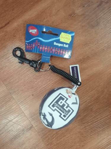 Footy Plus More Keyrings Fremantle Dockers Bungee Ball Keyring Clip Name Tag