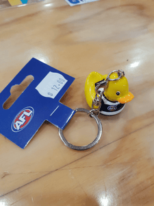 Footy Plus More Keyrings Geelong Cats 3D Rubber Duck Keyring