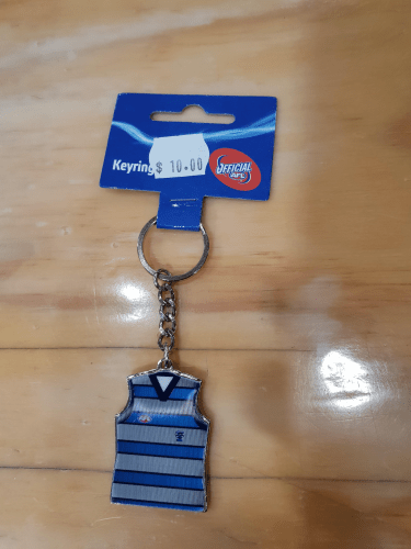 Footy Plus More Keyrings Geelong Cats Lenticular Guernsey Keyring