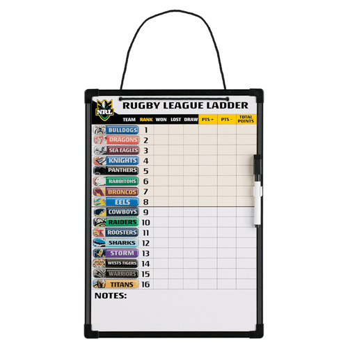 Footy Plus More ladders NRL Large Magnetic Ladder