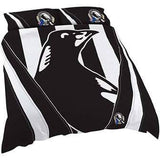 Footy Plus More MANCHESTER Collingwood Magpies Double Bed Quilt Cover Retro Logo