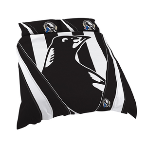 Footy Plus More MANCHESTER Collingwood Magpies King Bed Quilt Cover RETRO LOGO