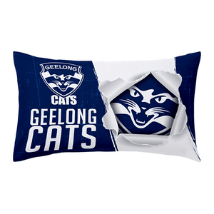Footy Plus More MANCHESTER Geelong Cats Pillow Case
