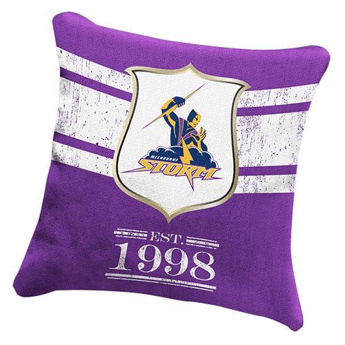 Footy Plus More MANCHESTER Melbourne Storm Cushion Retro logo