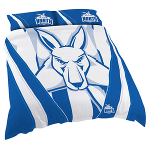 Footy Plus More MANCHESTER North Melbourne Kangaroos Double Bed Quilt Cover