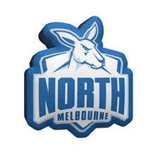 Footy Plus More MANCHESTER North Melbourne Kangaroos Logo Cushion