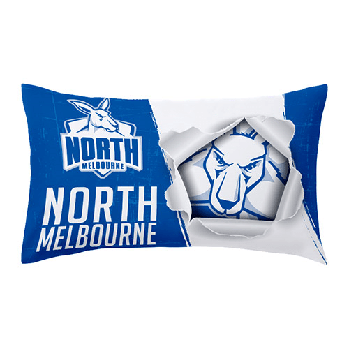 Footy Plus More MANCHESTER North Melbourne Kangaroos Pillow Case