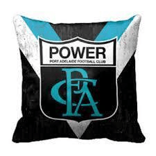 Footy Plus More MANCHESTER Port Adelaide Power1st 18 Cushion Retro Logo