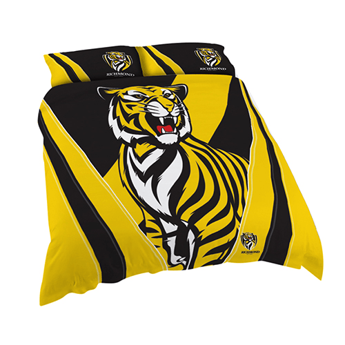 Footy Plus More MANCHESTER Richmond Tigers Double Bed Quilt Cover