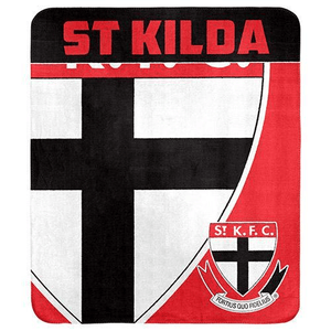 Footy Plus More MANCHESTER St Kilda Saints Throw Rug