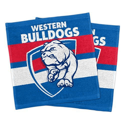 Footy Plus More MANCHESTER Western Bulldogs Set Of 2 Face Washers
