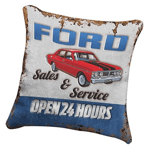 Footy Plus More + More Ford Retro Cushion