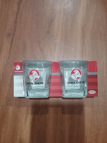 Footy Plus More + More Holden Set of 2 Spirit Glasses