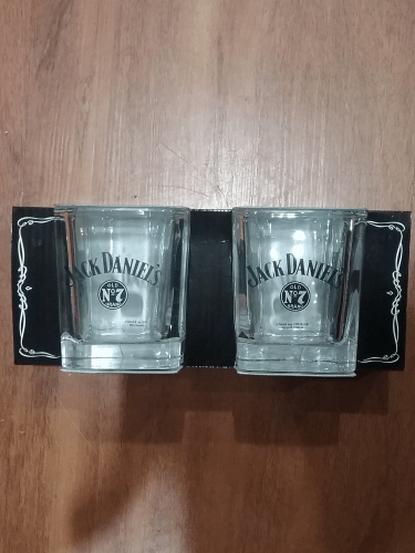 Footy Plus More + More Jack Daniels Square Spirit Glass Set
